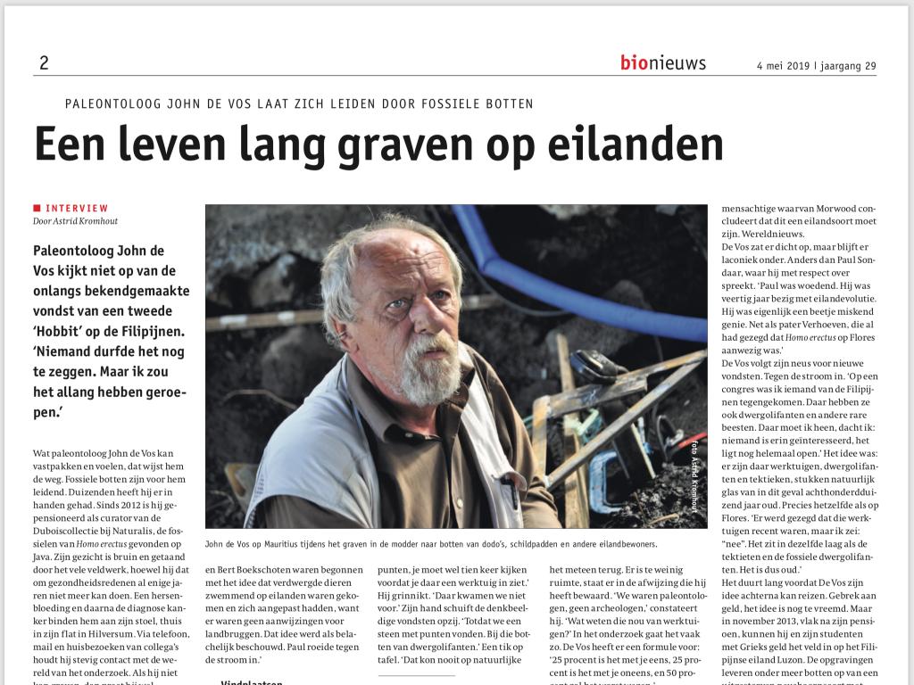Interview John de Vos in Bionieuws