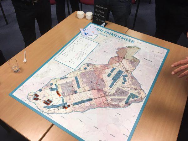 Kaart van gemeente Haarlemmermeer voor serious game