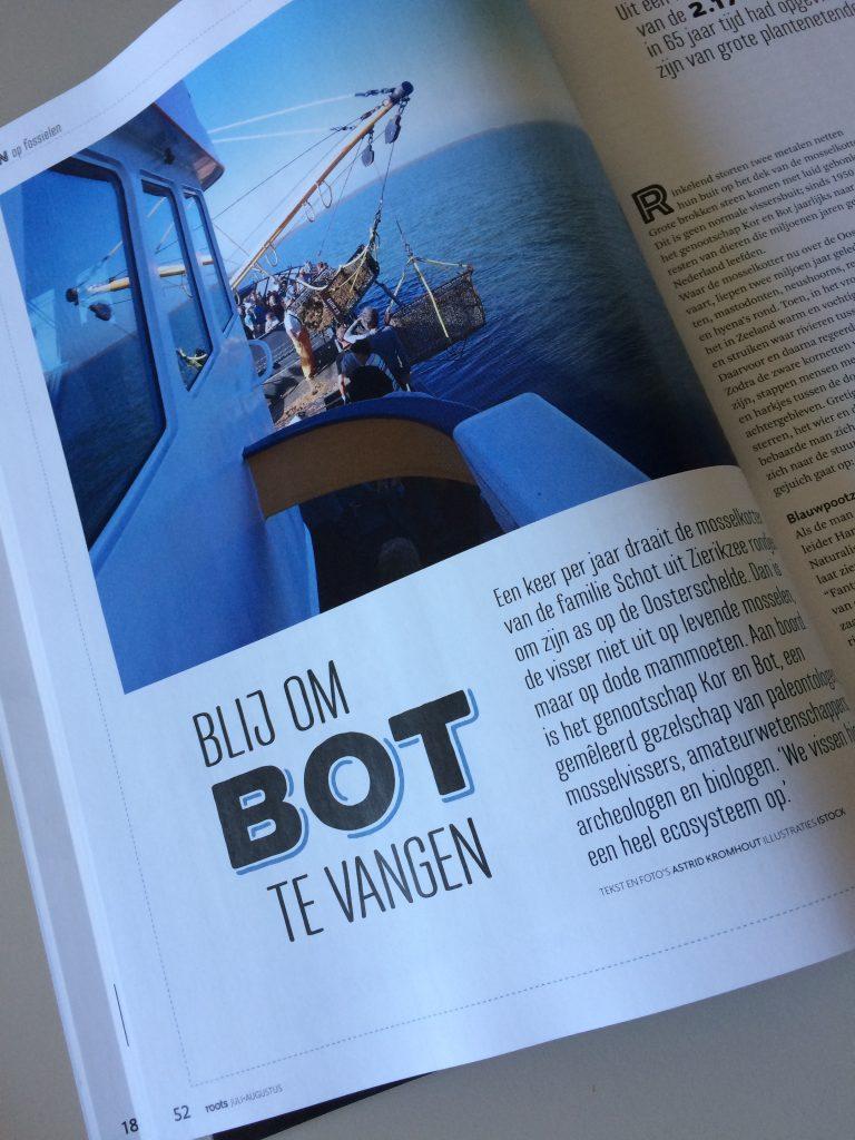 Artikel Blij om bot te vangen in Roots Magazine
